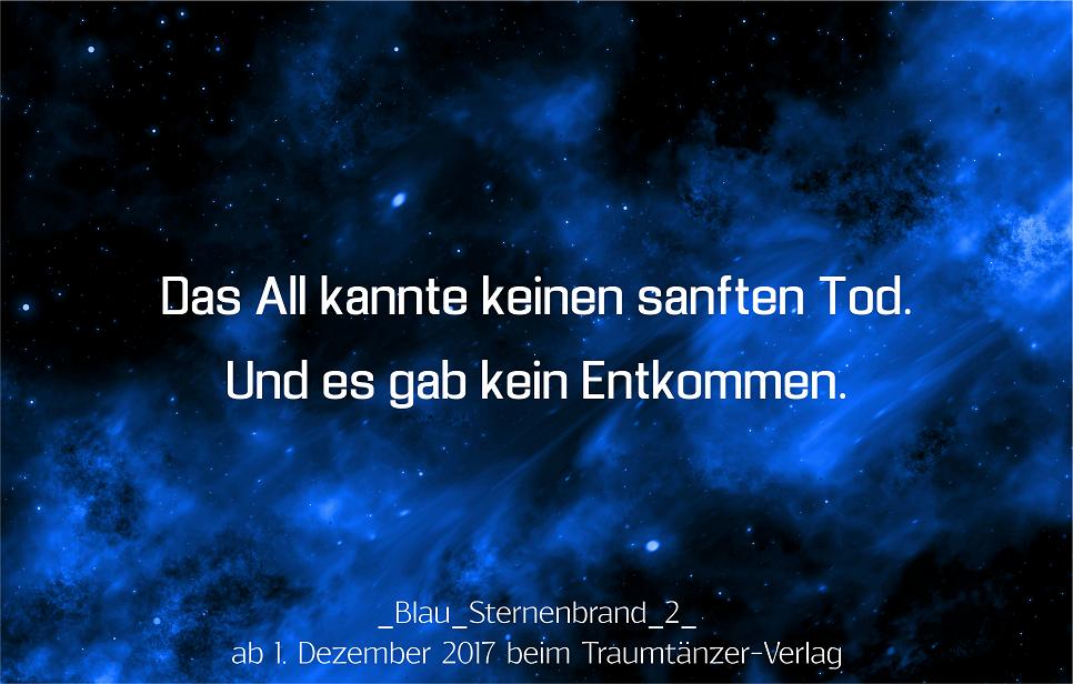 Sternenbrand Blau Zitat SciFi