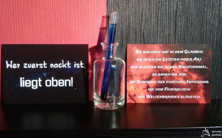 Sternenbrand Postkarten Zitat Scifi
